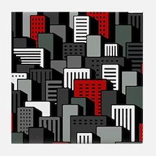 Urban City block Tile Coaster