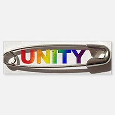Safety Pin Unity Rainbow Bumper Sticker Bumper Sti