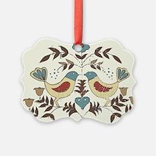 Pennsylvania Dutch Country Birds Design Ornament