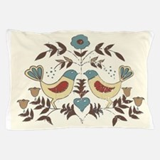 Pennsylvania Dutch Country Birds Design Pillow Cas