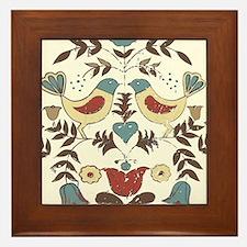 Pennsylvania Dutch Country Birds Design Framed Til