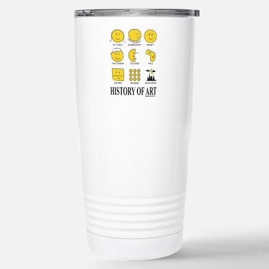 History of Art Smileys Stainless Steel Travel Mug
