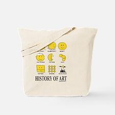 History of Art Smileys Tote Bag