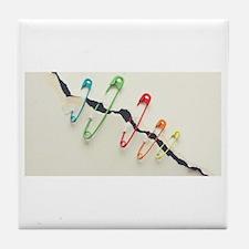 Safety Pin Tile Coaster