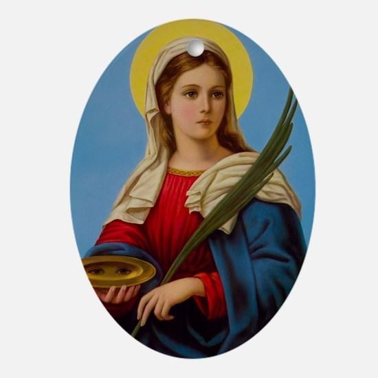 Cute Catholic faith Oval Ornament
