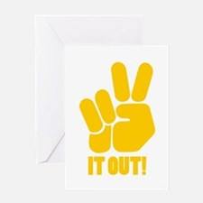 Peace It Out! Greeting Card