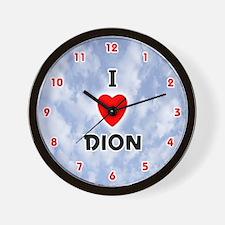 I Love Dion (Red/Blk) Valentine Wall Clock