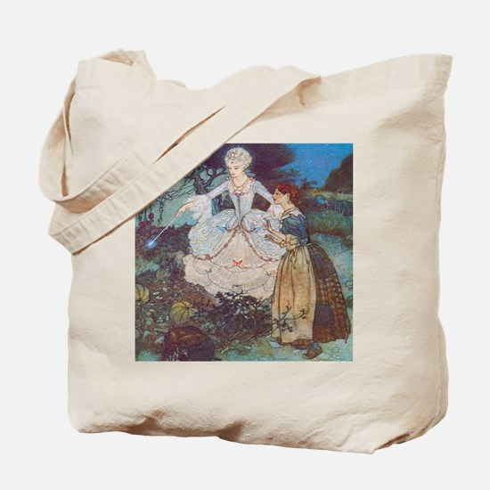 Cinderella and Her Fairy Godmother Tote Bag