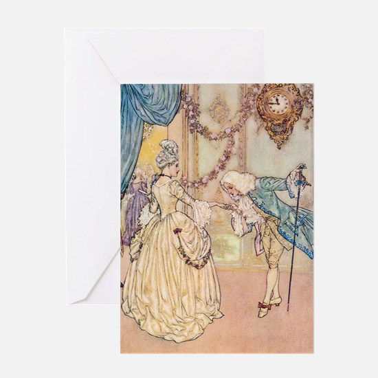 Cinderella Meets the Prince Greeting Card