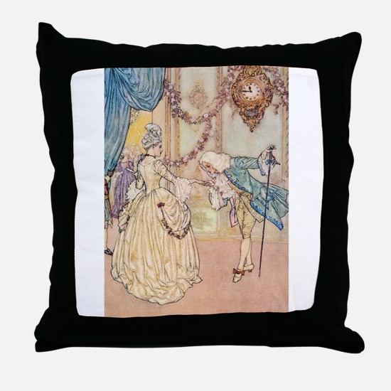 Cinderella Meets the Prince Throw Pillow
