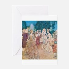 Cinderella and the Prince at the Bal Greeting Card