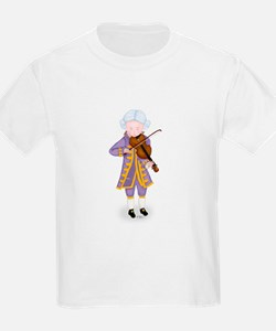 Young Mozart Playing Violin White Kids T-Shirt