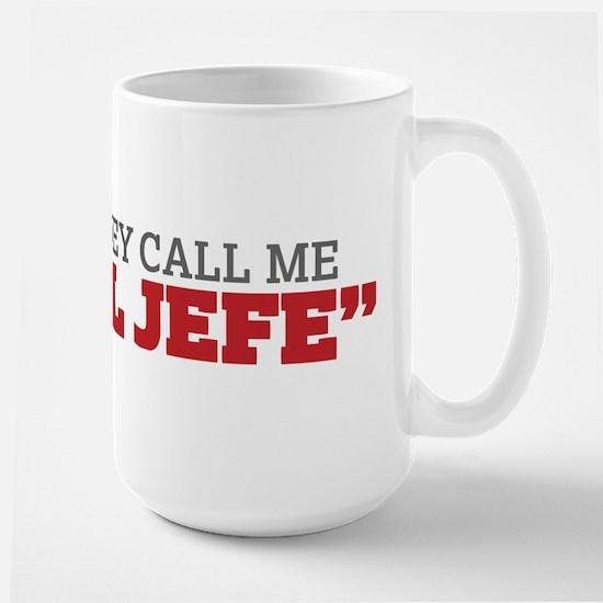 They Call Me El Jefe Mugs