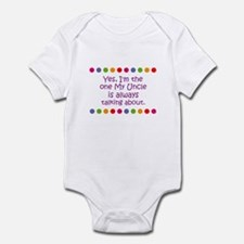 Yes, I'm the one My Uncle is  Infant Bodysuit