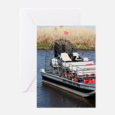 Florida swamp airboat Greeting Cards
