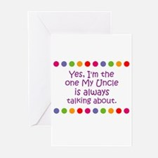 Yes, I'm the one My Uncle is  Greeting Cards (Pk o