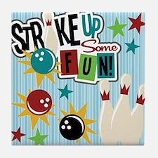 Bowling Sports Fun Tile Coaster