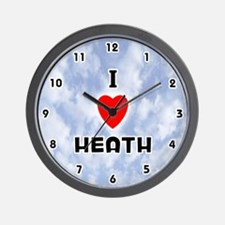 I Love Heath (Black) Valentine Wall Clock