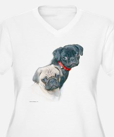 Two Pugs Plus Size T-Shirt
