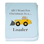 Christmas Loader baby blanket