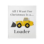 Christmas Loader Throw Blanket