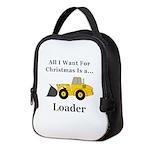Christmas Loader Neoprene Lunch Bag