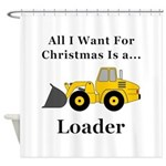 Christmas Loader Shower Curtain