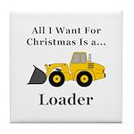 Christmas Loader Tile Coaster