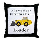Christmas Loader Throw Pillow