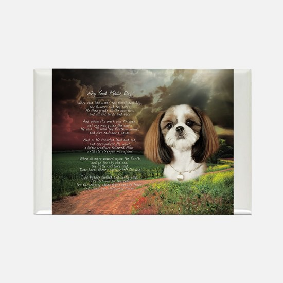 """""""Why God Made Dogs"""" Shih Tzu Magnets"""