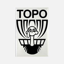 Cute Topo Rectangle Magnet