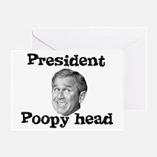 President Poopyhead Greeting Card