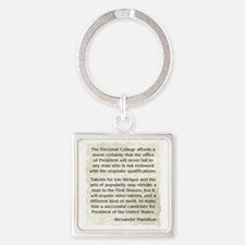 Cute Social conscience Square Keychain
