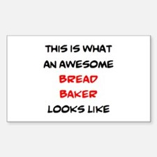 awesome bread baker Decal
