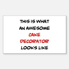 awesome cake decorator Decal