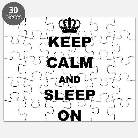 KEEP CAM AND SLEEP ON Puzzle