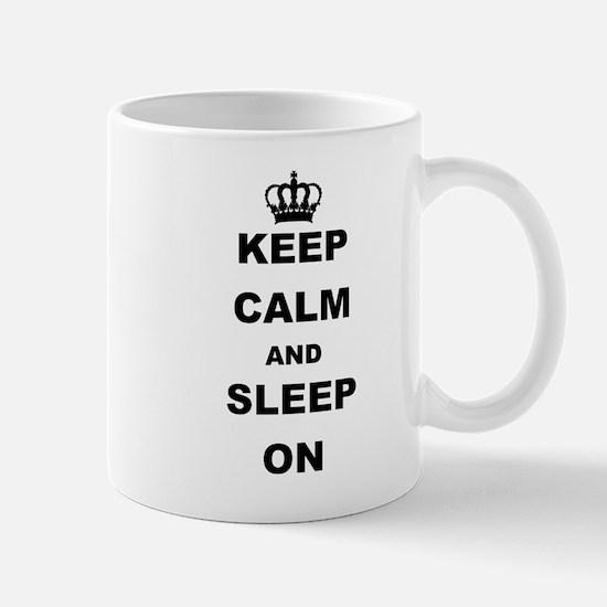 KEEP CAM AND SLEEP ON Mugs
