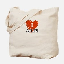 I Love Arts Tote Bag
