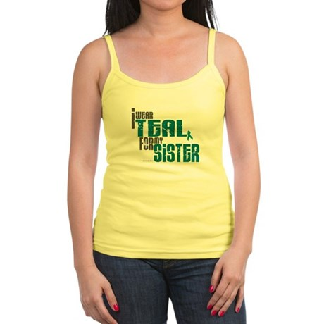 I Wear Teal For My Sister 6 Jr. Spaghetti Tank