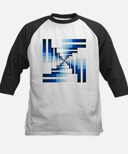 Geometric Layers of Blue Baseball Jersey