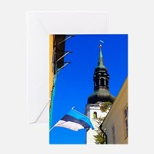 Blue Skies of Estonia Greeting Cards
