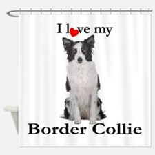 Love My Border Collie Shower Curtain