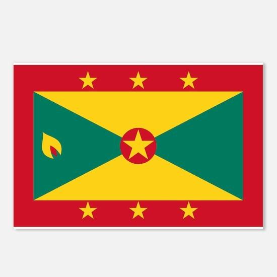 Flag Of Grenada Postcards (package Of 8)
