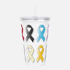 Awareness Ribbons Acrylic Double-wall Tumbler