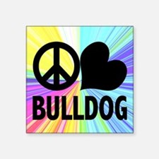 Peace Love Bulldog Sticker