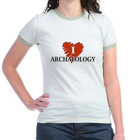 I Love Archaeology Jr. Ringer T-Shirt