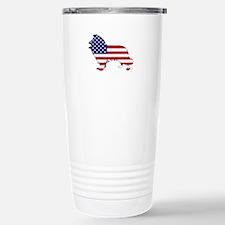 American Flag - Border Stainless Steel Travel Mug