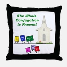 The Whole Conjugation Throw Pillow