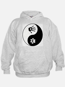 dog human yin yang Sweatshirt