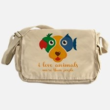Funny Animal rescue Messenger Bag